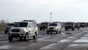 В составе парадного расчёта впервые были представлены две пусковые установки зенитного ракетного комплекса С-400 «Триумф».