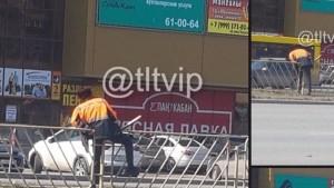 в Тольятти мужчина застрял в металлическом ограждении