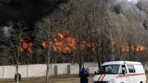 Ранг возгорания повысили до пятого, на месте работают 61 человек и 14 единиц техники.