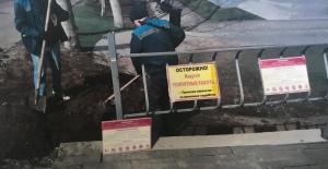 приступили к восстановлению поврежденных участков в районе скейт-площадки в Струковском саду.