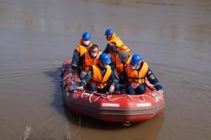 В Красноармейском районе области были отработаны практические мероприятия по ликвидации условной ЧС, связанной с паводком.