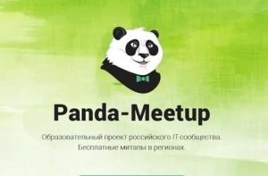 Проект Panda Meetup – серия конференций и хакатонов, направленных на популяризацию IT-специальностей.