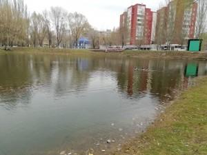 Здесь очищали газоны, подбирали мусор, в том числе с существующих озер.