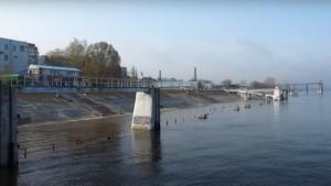 Причалы самарского речного вокзала затопило