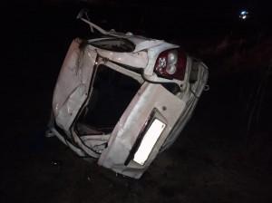 В Самарской области молодой водитель перевернул Ладу в кювет