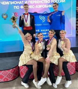В Москве во Дворце гимнастики Ирины Усмановой-Винер состоялся чемпионат России по фитнес-аэробике.
