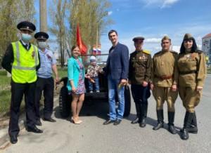 В Самарской области полицейские и общественники принимают участие в акции «Георгиевская ленточка»