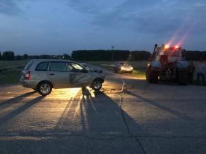 В Борском районе молодая автомобилистка врезалась в трактор