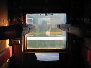 На верхние места в вагоны купе.