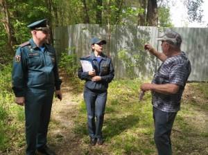 В очередном рейде о безопасности сообщили дачникам в Волжском районе.