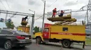 На Московском шоссе в Самаре оборвались провода троллейбуса