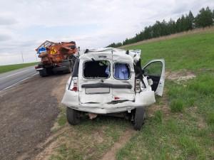 В ДТП с КАМАЗом в Самарской области пострадали двое