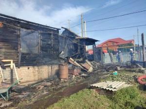 Площадь пожара составила450 кв.м.