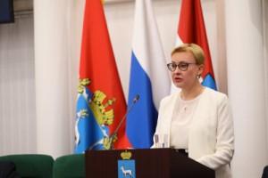 Глава Самары выступила с ежегодным отчетом перед городской Думой