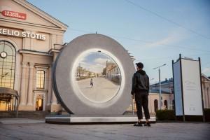В Литве установили первый портал между городами