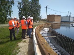 Сызранская делегация посетила Городские очистные канализационные сооружения Самары.
