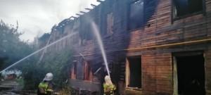 Ночью горел расселенныйдвухэтажныйдомна ул. Вилоновской