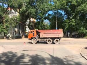 В Самаре КАМАЗ врезался в Лада Гранта, трое пострадали