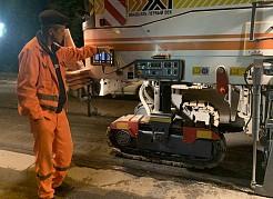 В ночь на 9 июня подрядная организация занималась удалением старого дорожного полотна.
