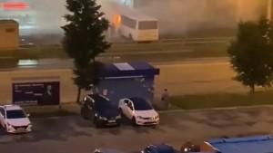 В Тольятти автобус загорелся на проезжей части