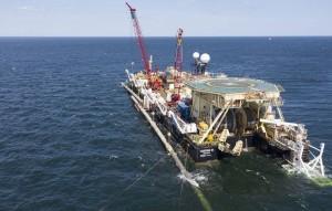 """Морская часть первой нитки газопровода """"Северныйпоток- 2"""" технически завершена - уложенные морские секции газопровода соединены между собой."""