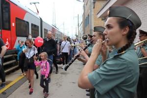 Первый в регионе скоростной электропоезд «Ласточка» встретил оркестр Центра подготовки личного состава Приволжского округа Росгвардии
