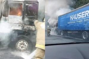 На трассе в Самарской области сгорела фура