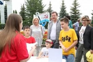Вместе с земляками в викторине принял участие Дмитрий Азаров.