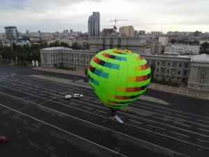 Активисты Народного фронта подняли триколор над главной площадью Самары