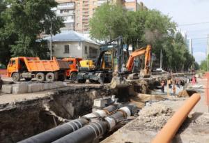 На время ремонтных работ жители города обеспечены горячим водоснабжением по резервным схемам.