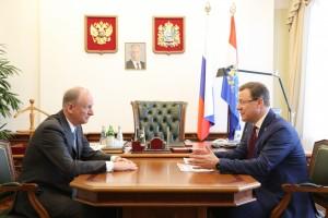 Николай Патрушев иДмитрий Азаров обсудили вопросы противодействия терроризму и экстремизму на территории региона.