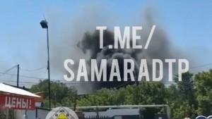 В Самаре на территории бывшего подшипникового завода тушили пожар
