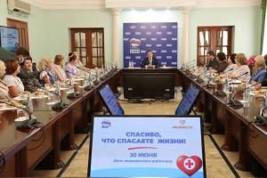 Секретарь Самарского регионального отделения партии «Единая Россия» Дмитрий Азаров встретился с Самарской ассоциацией медицинских сестер.