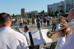 В Тольятти творческие коллективы Приволжского округа Росгвардии приняли участие в акции «Скажи спасибо доктору!»