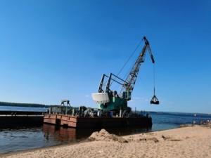 На пляж в районе второй очереди самарской набережной после завершения «ВолгаФест» завозят песок