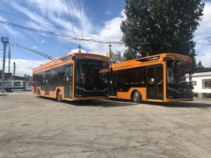 В Самару привезли 22 новых троллейбуса