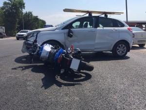 На Ракитовском шоссе в Самаре водитель сбил мотоциклистку