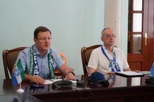 Дмитрий Азаров встретился с наставниками и игроками «Крыльев Советов».