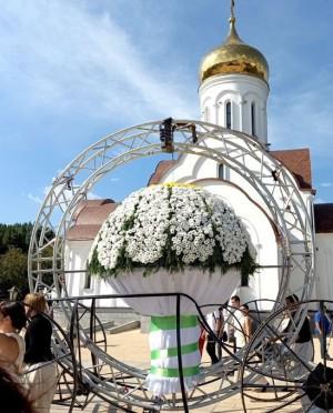 В Тольятти собрали самый большой свадебный букет из 1300 ромашек