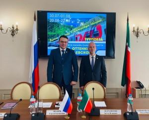 В Казани состоялась презентация первого туристического поезда в Самарскую область