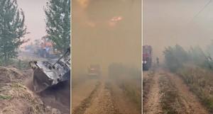 На месте работают 300 пожарных и 10 бойлеров.