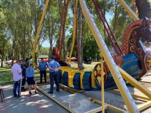 В Самарском парке Гагарина временно закрыли два аттракциона
