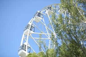 В самарском парке Гагарина изменили время работы колеса обозрения