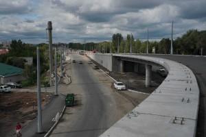 В Самаре продолжается строительство второго этапа Самарского (Фрунзенского) моста – от улицы Шоссейной до границы Самары.