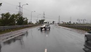 В Жигулевске водитель врезался в дорожное ограждение