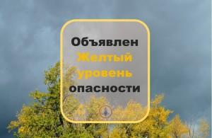 Объявлен желтый уровень опасности.