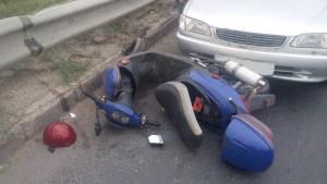 В Тольятти иномарка сбила мопед