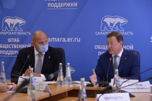 О ситуации в Борском районе Дмитрий Азаров рассказал на встрече Александра Карелина с партийным активом и членами регштаба общественной поддержки.