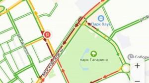 Пробки в Самаре: ситуация на Московском шоссе остается напряженной