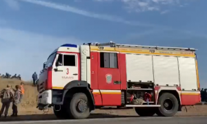 В тушении пожара приняли участие и местные жители.
